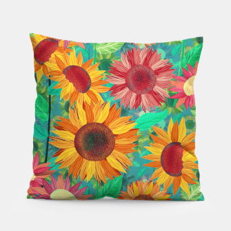 Thumbnail image of Sunflower Garden Pillow, Live Heroes