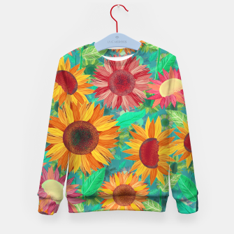Thumbnail image of Sunflower Garden Kid's sweater, Live Heroes