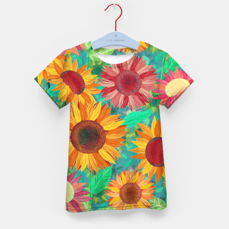 Thumbnail image of Sunflower Garden Kid's t-shirt, Live Heroes