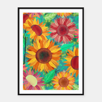 Thumbnail image of Sunflower Garden Framed poster, Live Heroes