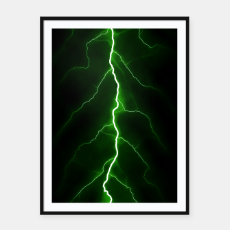 Thumbnail image of Natural Forked Lightning - 04 Framed poster, Live Heroes