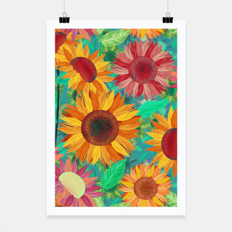 Thumbnail image of Sunflower Garden Poster, Live Heroes