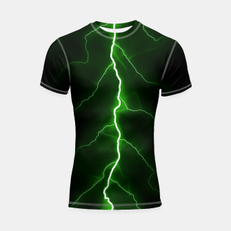 Thumbnail image of Natural Forked Lightning - 04 Shortsleeve rashguard, Live Heroes