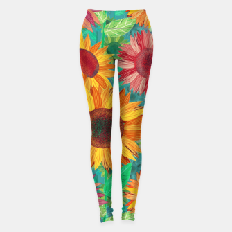 Thumbnail image of Sunflower Garden Leggings, Live Heroes