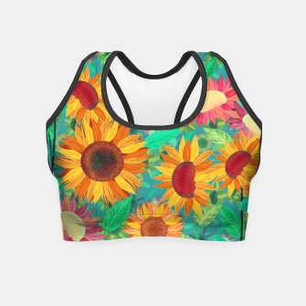 Thumbnail image of Sunflower Garden Crop Top, Live Heroes