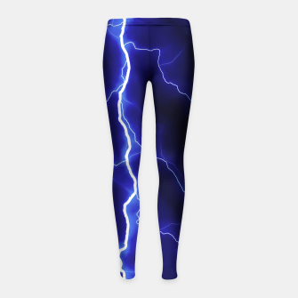 Natural Forked Lightning - 05 Girl's leggings Bild der Miniatur