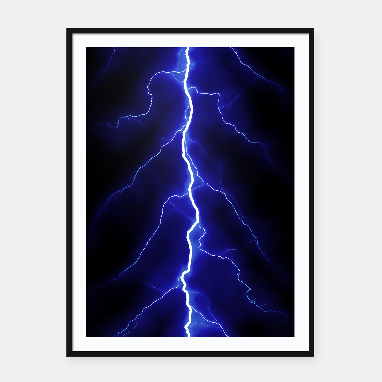 Foto Natural Forked Lightning - 05 Framed poster - Live Heroes