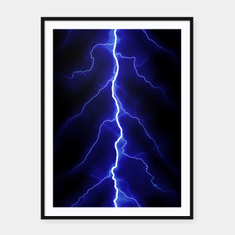Natural Forked Lightning - 05 Framed poster Bild der Miniatur