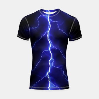 Thumbnail image of Natural Forked Lightning - 05 Shortsleeve rashguard, Live Heroes