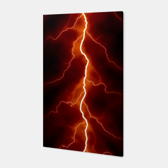 Natural Forked Lightning - 06 Canvas Bild der Miniatur
