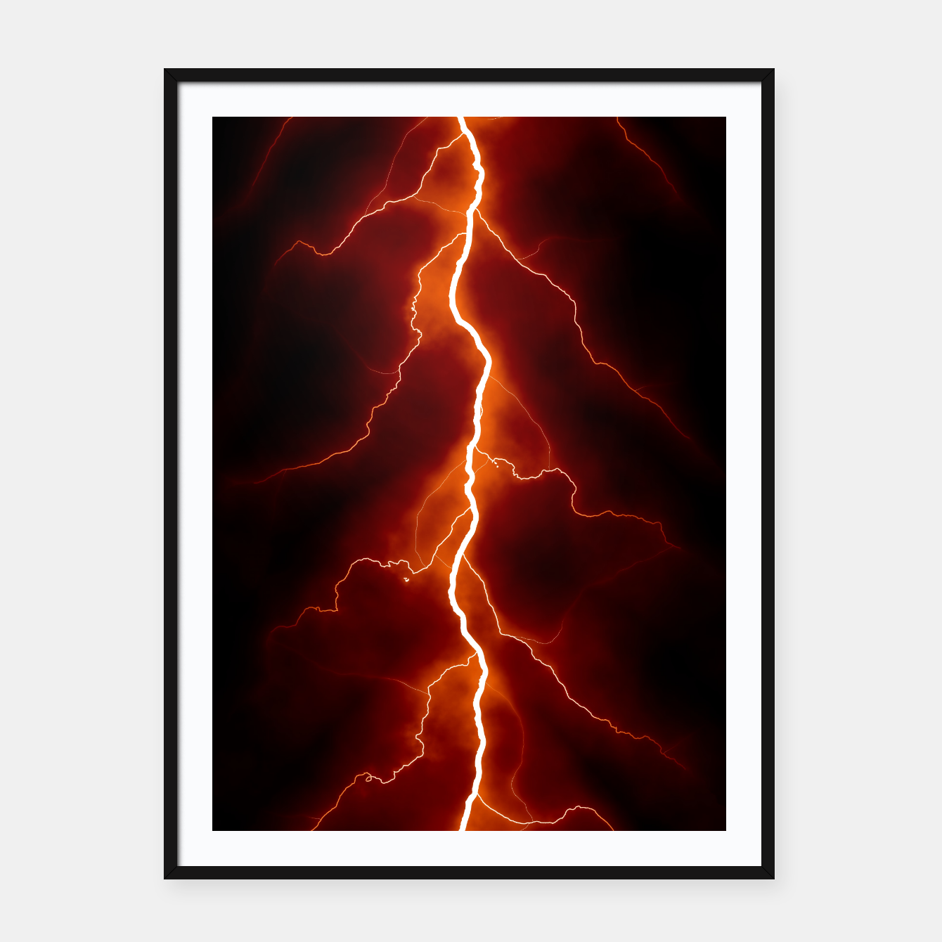 Foto Natural Forked Lightning - 06 Framed poster - Live Heroes