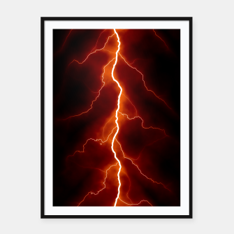 Thumbnail image of Natural Forked Lightning - 06 Framed poster, Live Heroes