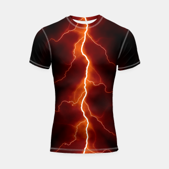 Thumbnail image of Natural Forked Lightning - 06 Shortsleeve rashguard, Live Heroes