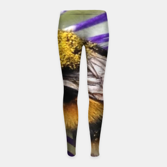 Thumbnail image of Bumblebee Girl's leggings, Live Heroes