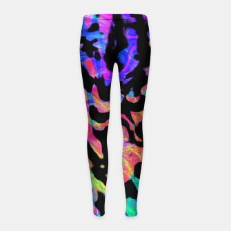 Thumbnail image of Neon Cheetah Print (LH086) Girl's leggings, Live Heroes