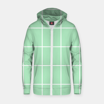 Thumbnail image of Grid pattern on carnival glass Zip up hoodie, Live Heroes