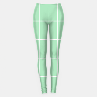 Thumbnail image of Grid pattern on carnival glass Leggings, Live Heroes