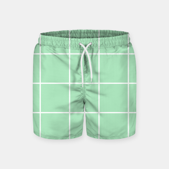 Thumbnail image of Grid pattern on carnival glass Swim Shorts, Live Heroes