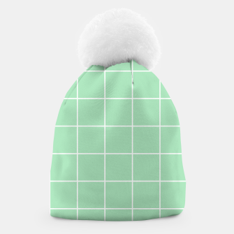 Thumbnail image of Grid pattern on carnival glass Beanie, Live Heroes