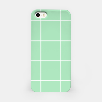 Thumbnail image of Grid pattern on carnival glass iPhone Case, Live Heroes