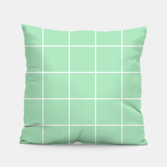 Thumbnail image of Grid pattern on carnival glass Pillow, Live Heroes