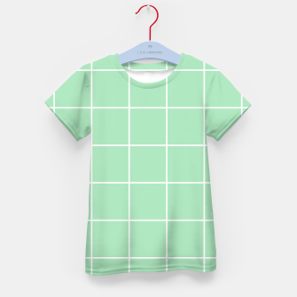 Thumbnail image of Grid pattern on carnival glass Kid's t-shirt, Live Heroes