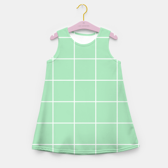 Thumbnail image of Grid pattern on carnival glass Girl's summer dress, Live Heroes
