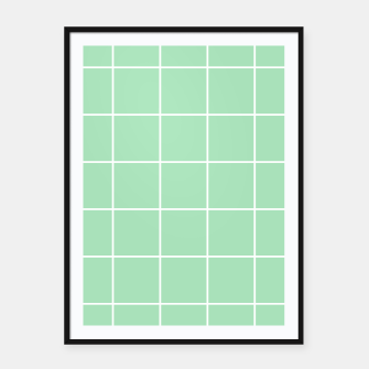 Thumbnail image of Grid pattern on carnival glass Framed poster, Live Heroes