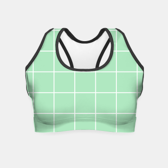 Thumbnail image of Grid pattern on carnival glass Crop Top, Live Heroes
