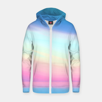 Miniatur Colorful Sky Zip up hoodie, Live Heroes
