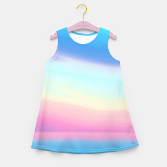 Miniatur Colorful Sky Girl's summer dress, Live Heroes