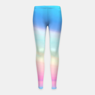 Miniatur Colorful Sky Girl's leggings, Live Heroes
