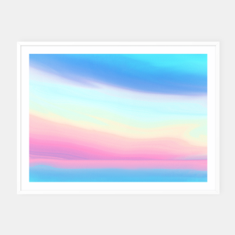 Thumbnail image of Colorful Sky Framed poster, Live Heroes