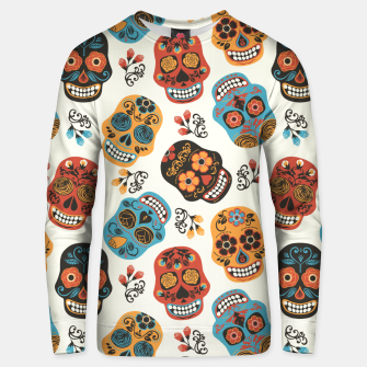Thumbnail image of Colorful sugar skulls Unisex sweater, Live Heroes