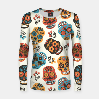 Thumbnail image of Colorful sugar skulls Women sweater, Live Heroes