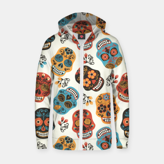 Thumbnail image of Colorful sugar skulls Zip up hoodie, Live Heroes