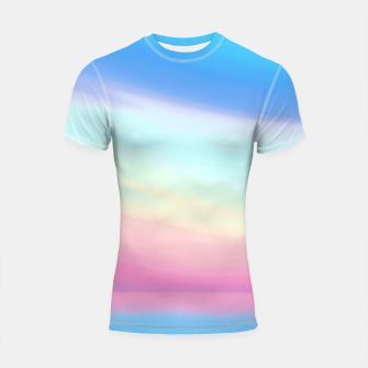 Thumbnail image of Colorful Sky Shortsleeve rashguard, Live Heroes