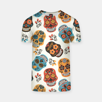 Thumbnail image of Colorful sugar skulls T-shirt, Live Heroes