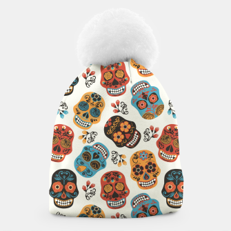 Thumbnail image of Colorful sugar skulls Beanie, Live Heroes