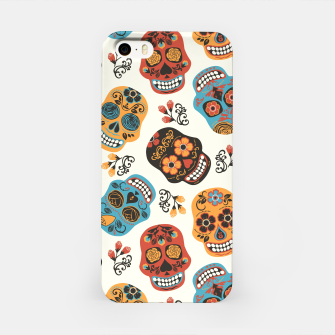 Thumbnail image of Colorful sugar skulls iPhone Case, Live Heroes