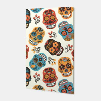 Thumbnail image of Colorful sugar skulls Canvas, Live Heroes