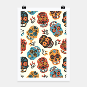 Thumbnail image of Colorful sugar skulls Poster, Live Heroes