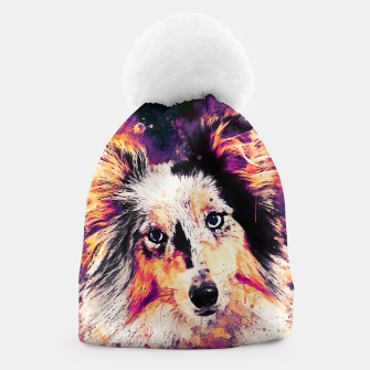 Thumbnail image of border collie dog 5 portrait wslsh Beanie, Live Heroes
