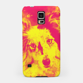 Thumbnail image of border collie dog 5 portrait wsyp Samsung Case, Live Heroes