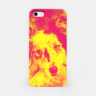 Thumbnail image of border collie dog 5 portrait wsyp iPhone Case, Live Heroes