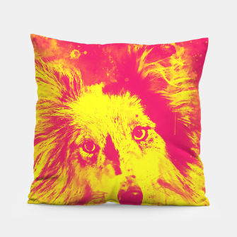 Thumbnail image of border collie dog 5 portrait wsyp Pillow, Live Heroes