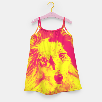 Thumbnail image of border collie dog 5 portrait wsyp Girl's dress, Live Heroes