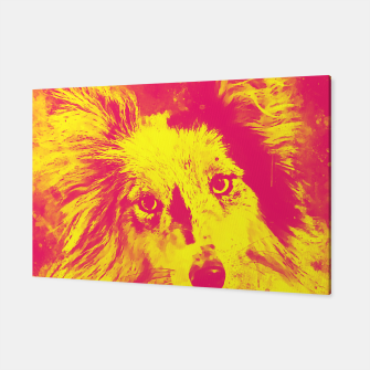 Thumbnail image of border collie dog 5 portrait wsyp Canvas, Live Heroes