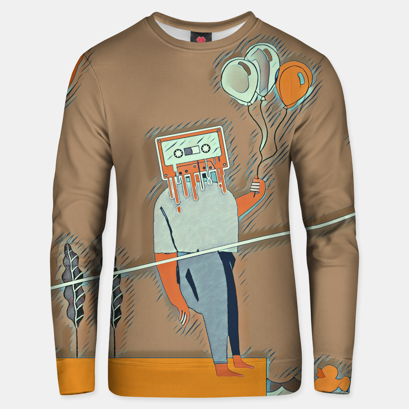 Image of Cassette man Unisex sweater - Live Heroes