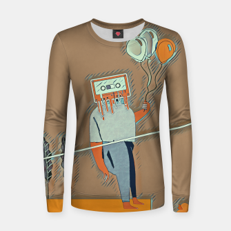Cassette man Women sweater thumbnail image